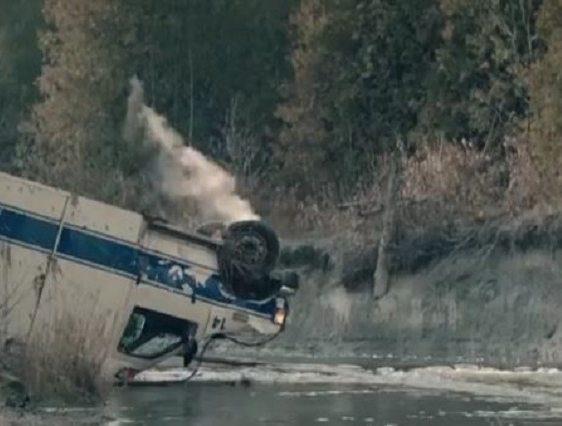 Crashed ambulance for Handmaid's Tale Season 1