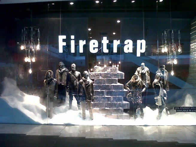 display snow retail display