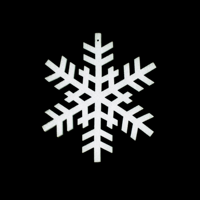 large foam snowflake