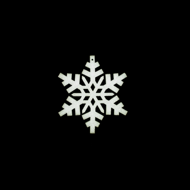 small foam snowflake