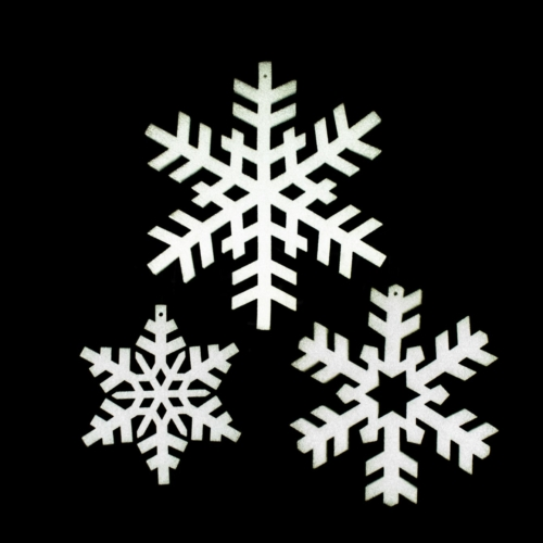 foam snowflakes